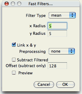 Fast Filters Dialog